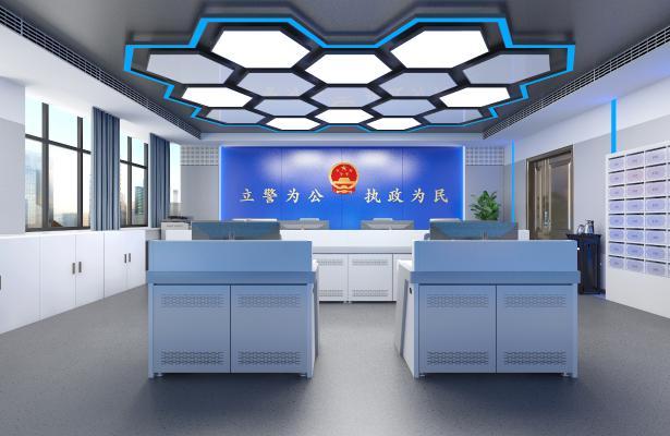 现代风格监控指挥室