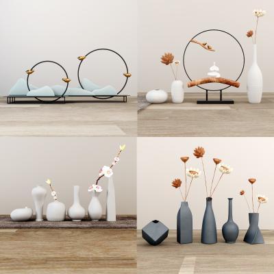 新中式飾品擺件 陶罐 花瓶