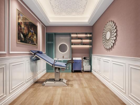 现代美容院 助产室 治疗室