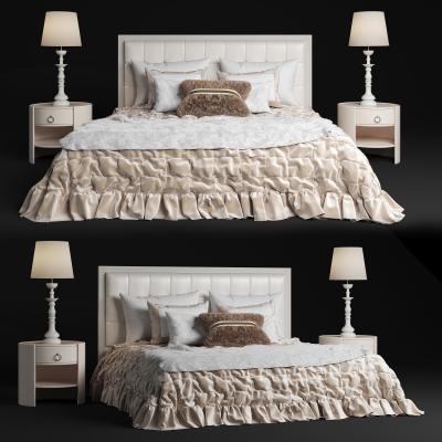 现代实木品牌双人床
