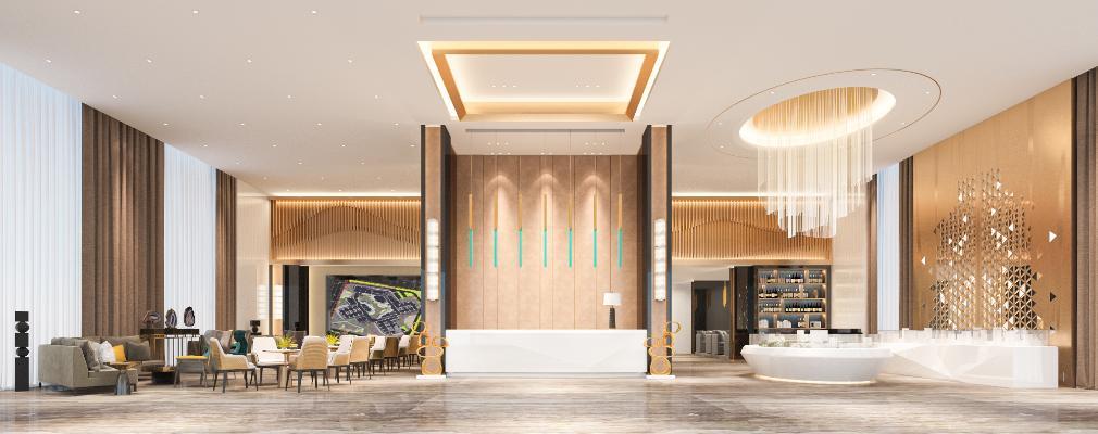 现代风格酒店大堂 售楼部大厅