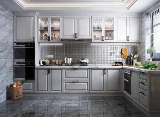 简欧风格厨房橱柜 厨房电器 厨房用品