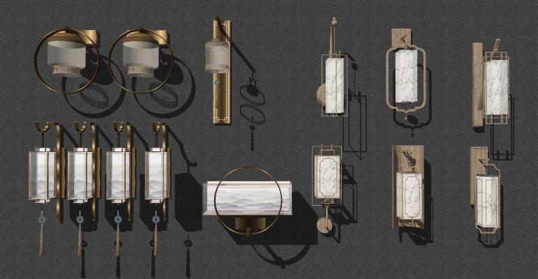 新中式金属壁灯