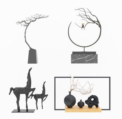 新中式摆件 装饰品 雕塑