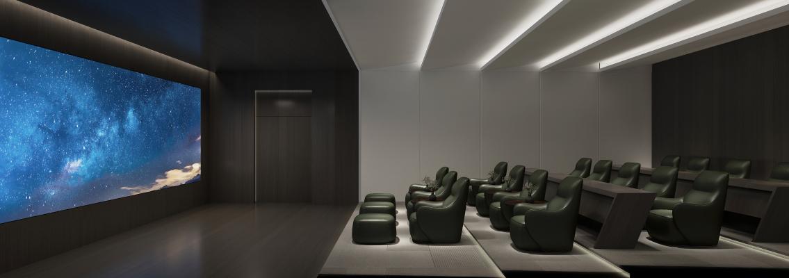 现代电影院 影音室视听室 3D电影院