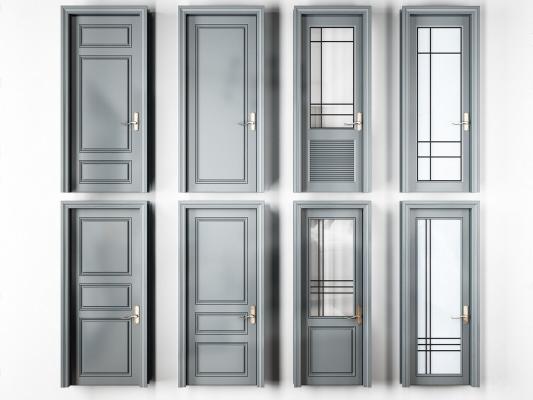 现代实木烤漆房门厕所门