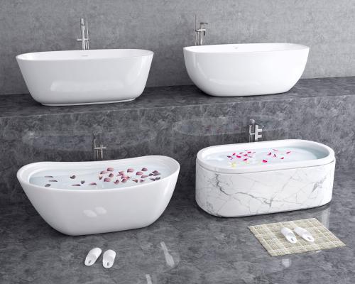 现代浴缸 水龙头 酒店浴缸
