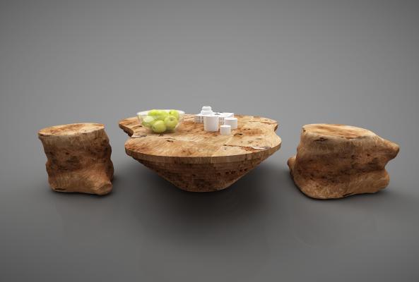 新中式风格茶桌组合