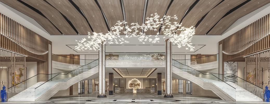 新中式酒店大厅