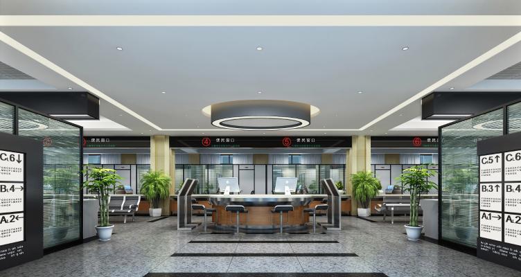 現代銀行大廳