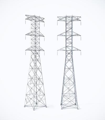 现代高压线塔