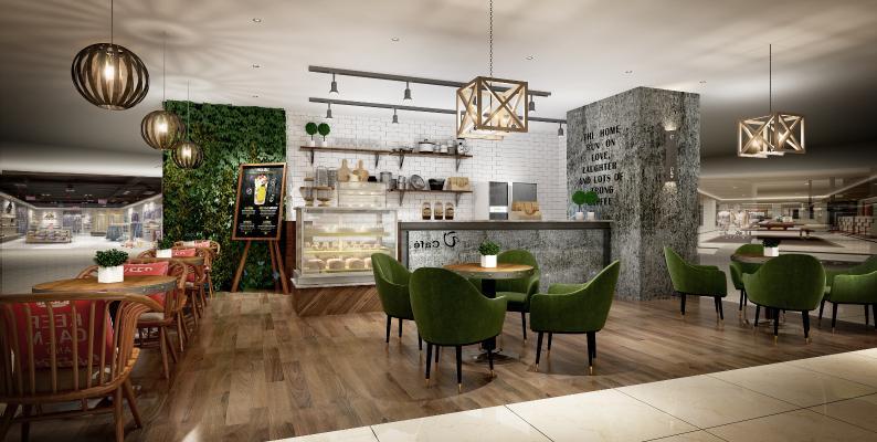现代咖啡厅 面包房