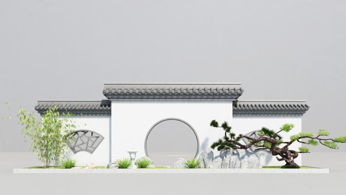 新中式景墙