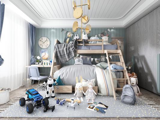 北欧儿童房 上下床