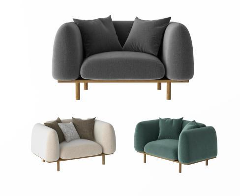 北欧单人沙发 休闲沙发