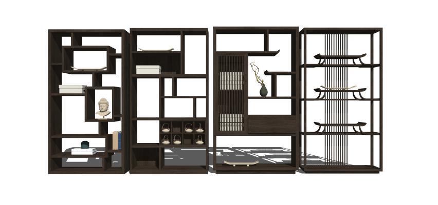 中式博古架装饰架组合1