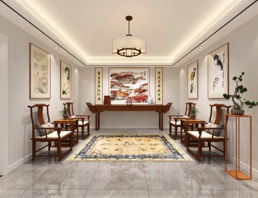 中式古典家具玄关_中堂