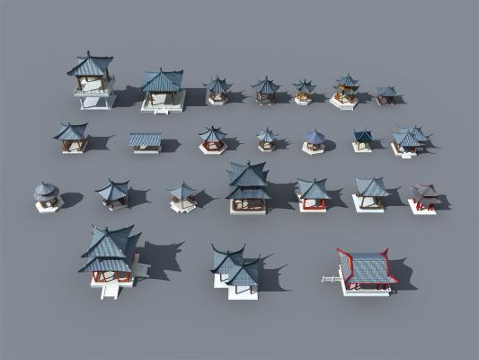 中式风格凉亭 亭子