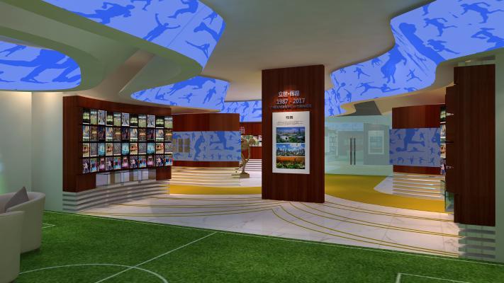 现代风格展厅 体育局展示厅
