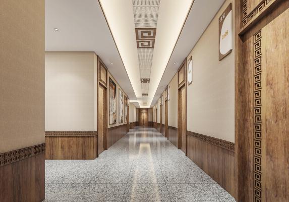 新中式医院过道