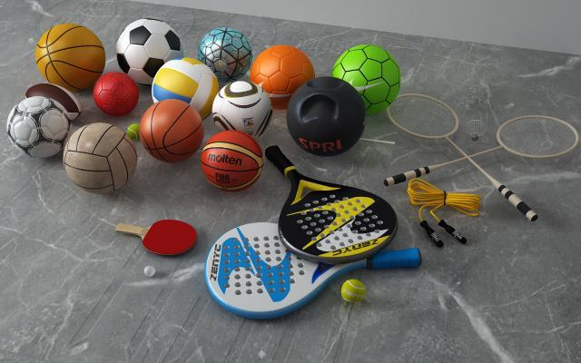 现代篮球足球乒乓球