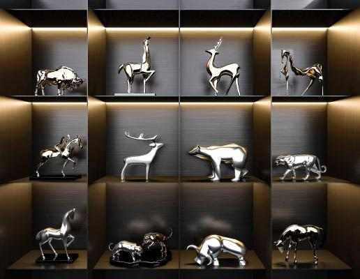 现代动物雕塑饰品摆件工艺品
