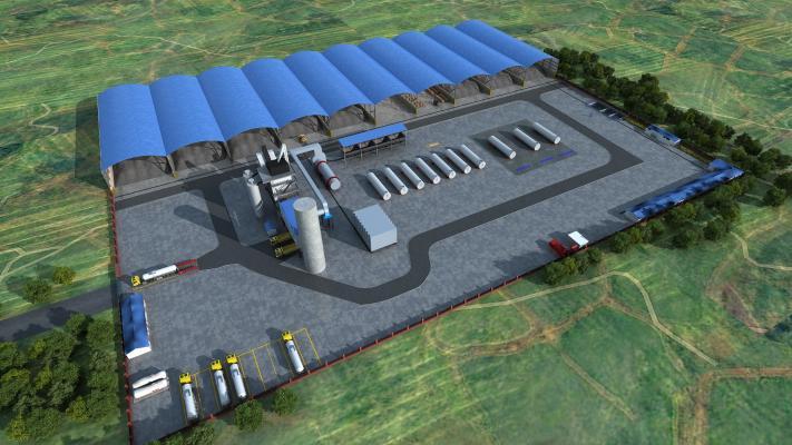 现代工业 厂区 搅拌厂