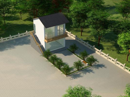 新中式别墅,小房子,小院子