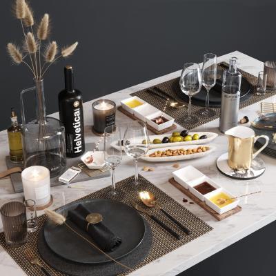 现代风格餐桌餐具组合