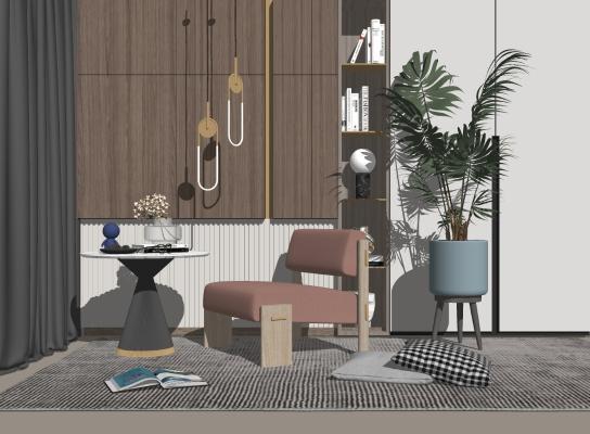 现代休闲椅 单人沙发