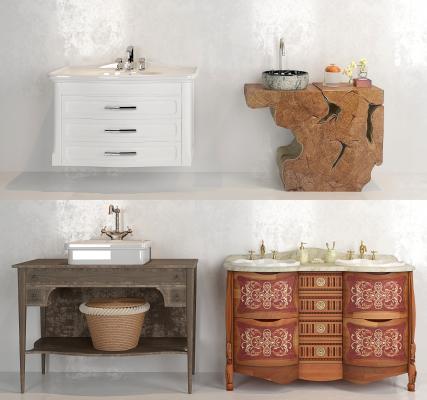新古典洗手台组合