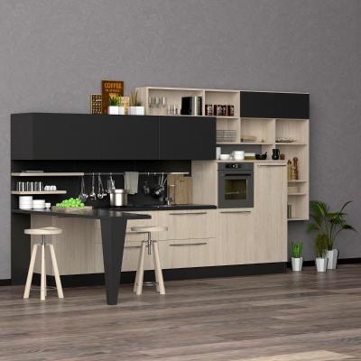 现代厨房 橱柜 厨具 吧台组合