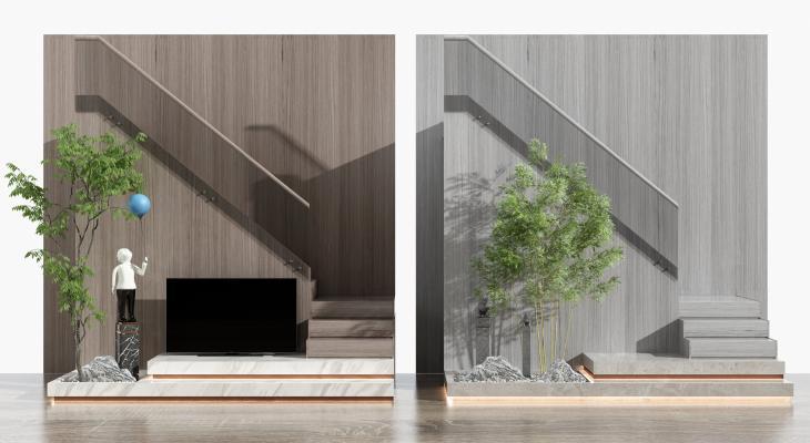 現代樓梯組合