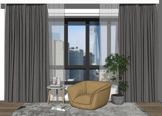 现代窗帘 懒人沙发