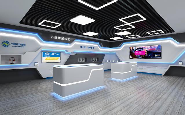 现代收集数码展厅 手机店 移动大厅