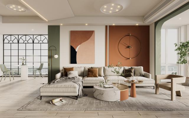 现代客厅 沙发茶几 休闲茶桌椅
