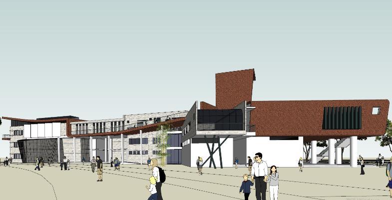 现代图书馆 艺术楼建筑