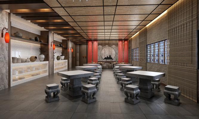 中式酒店餐厅自助餐