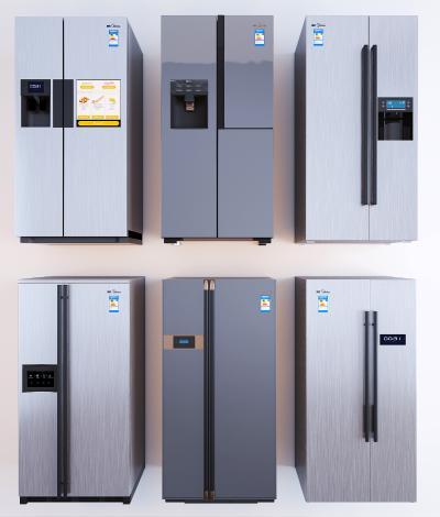现代冰箱组合 双开门冰箱