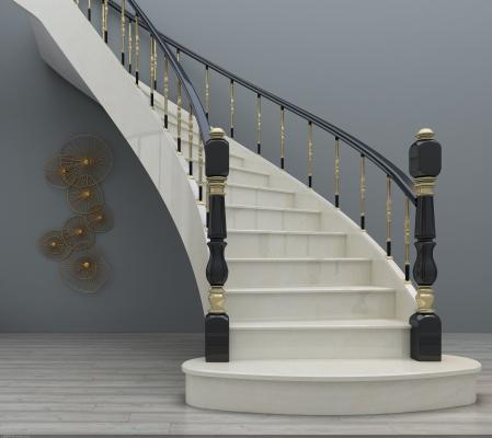 简欧旋转楼梯