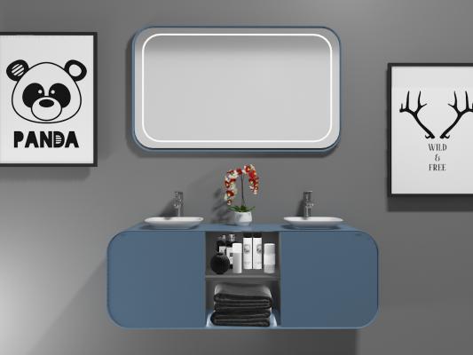 北欧简约卫浴柜架