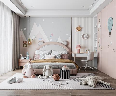 现代儿童房 卧室