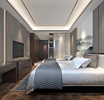 新中式客房 标准间 标间