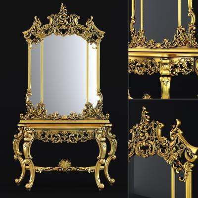 新古典风格装饰柜架