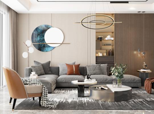 现代轻奢客厅 吊灯