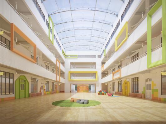 现代幼儿园 活动区域 走廊