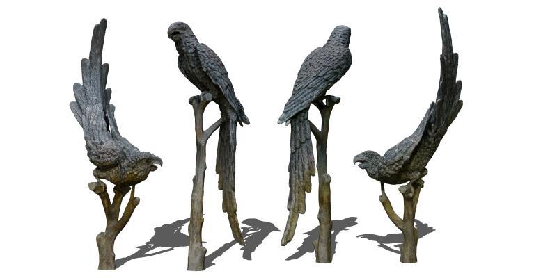 现代老鹰雕塑 鹦鹉雕像 鸟雕塑