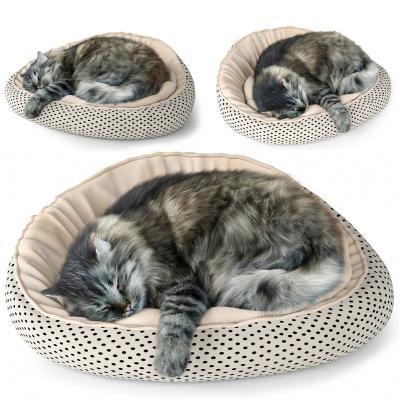 现代猫 坐垫 懒人沙发