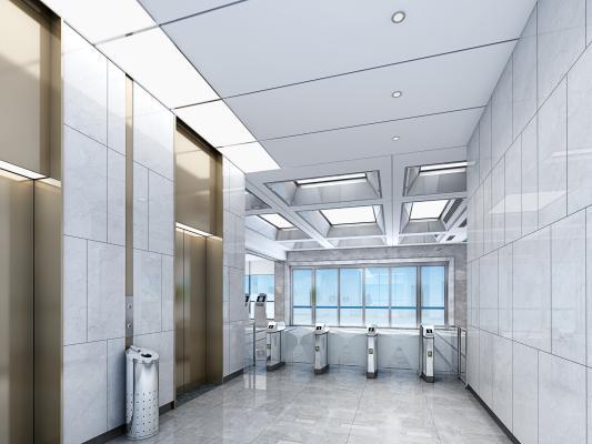现代电梯 闸机