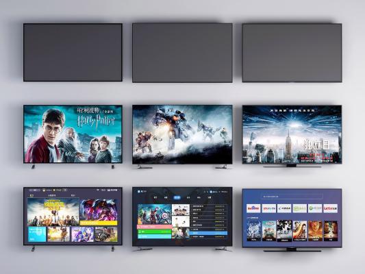 现代电视机 电视 数字电视